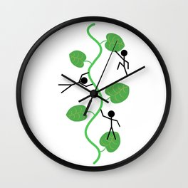 Giant plant Wall Clock