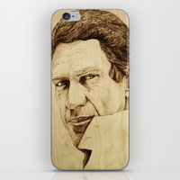 steve mcqueen iPhone & iPod Skins featuring Steve McQueen by Farinaz K.