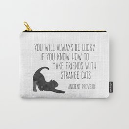 Friends with Strange Cats Carry-All Pouch