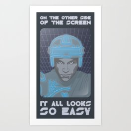 Tron - on the other side of the screen Art Print