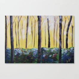 Good Luck Series: Sunny Forest Abstract Canvas Print