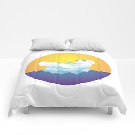 Tropical Iceland Comforters