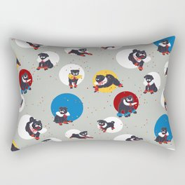Pug Party Rectangular Pillow
