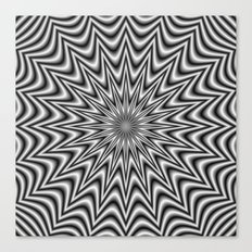 Monochrome Star Canvas Print