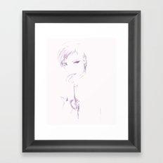 pink heart Framed Art Print
