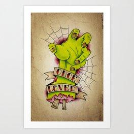 Once Loved - Tattoo Art Art Print