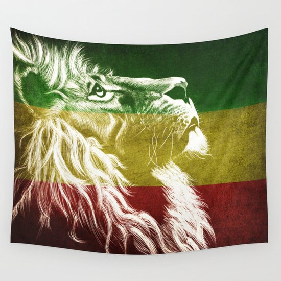 Rasta Art, Rasta Tapestry, Rastafarian, Rasta Gift, Rasta Lion, Rasta Wall Art, by inspiredimages