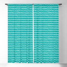 Turquoise Waves Blackout Curtain