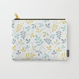Assorted Leaf Silhouettes Pattern Color Mix Carry-All Pouch