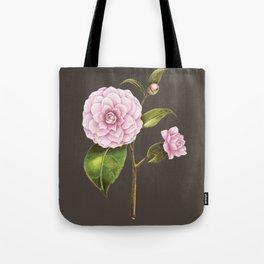 Botanical rose illustration cocoa Tote Bag