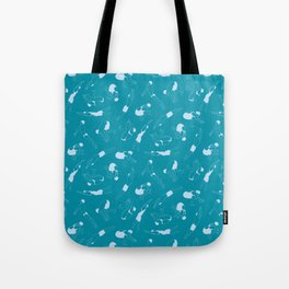 On Your Marks - Teal Tote Bag