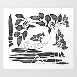 Garden Shadows Art Print