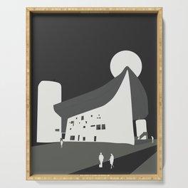 Le Corbusier - Chapelle Notre-Dame du Haut de Ronchamp Serving Tray