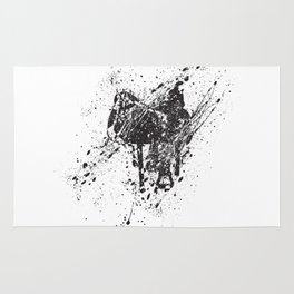 Saddle in Splatter Rug