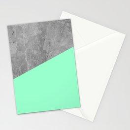 Geometry 101 Mint Meringue Stationery Cards