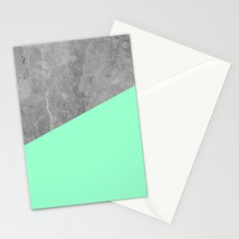 Geometry 101 Mint Meringue Stationery Cards