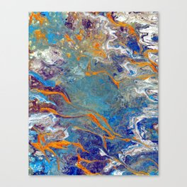 Fire and Ice 2 - Flow Acrylic Abstract Canvas Print