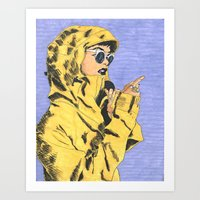 Yellow Jacket Art Print