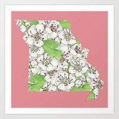 Missouri in Flowers Art Print