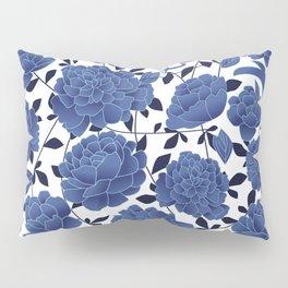 Cobalt blue flowers Pillow Sham