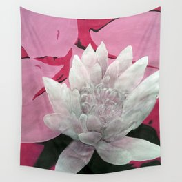 Monochrome Lotus Wall Tapestry