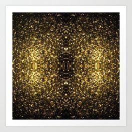 Beautiful Yellow Gold sparkles Art Print