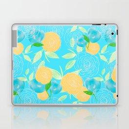 06 Yellow Blooms on Blue Laptop & iPad Skin