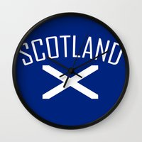 scotland Wall Clocks featuring Scotland by Earl of Grey