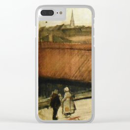 View of Scheveningen, spire in background Clear iPhone Case