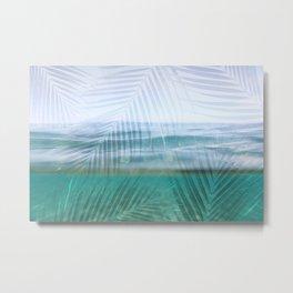 Palms over water  Metal Print