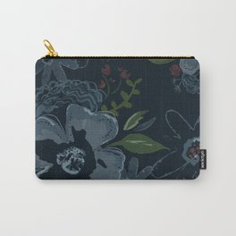 Moody Blues Floral Pattern Carry-All Pouch