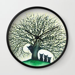 Illinois Whimsical Cats Wall Clock