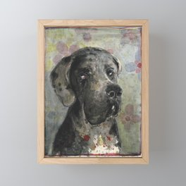 Esra Great Dane Framed Mini Art Print