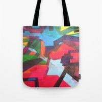 labyrinth Tote Bags featuring Labyrinth by fieltrovitz
