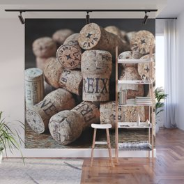 Cork of Champagne Wall Mural