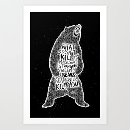 Killer Bear Art Print