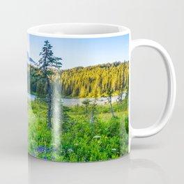 Rainier Wildflowers - Mt. Rainier in the Fall at Reflection Lake Coffee Mug