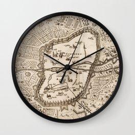 Vintage Map of Nuremberg Germany (1642) Wall Clock