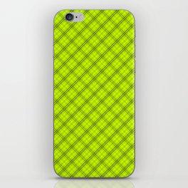 Slime Green and Black Halloween Tartan Check Plaid iPhone Skin