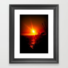 As the Sunsets Framed Art Print