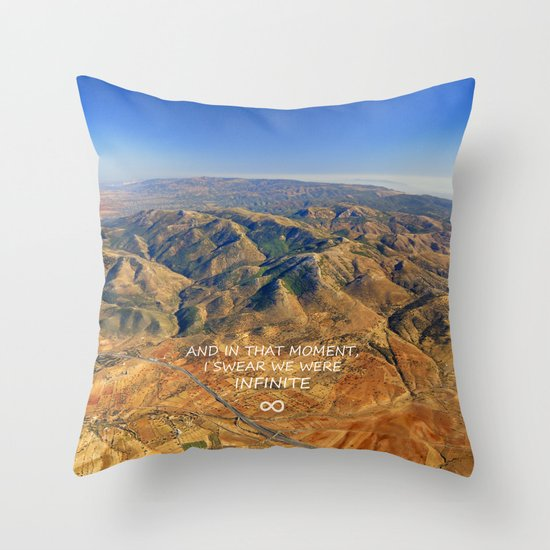 And in that moment, I swear we were infinite ∞. Aerial photo Throw Pillow