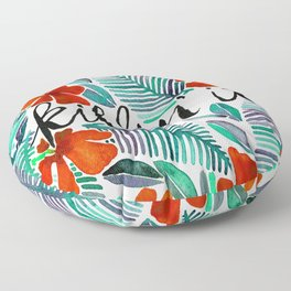 Killin' It – Tropical Red & Green Floor Pillow