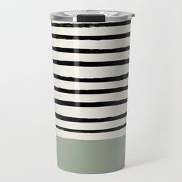 Sage Green x Stripes Travel Mug