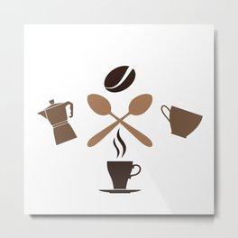 Coffee Only Logo Metal Print
