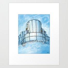 Disc Golf Fantasy Art - Ice Basket Art Print