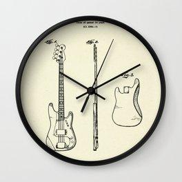 Bass Guitar-1960 Wall Clock