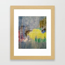 Subliminal Grey. Grey, Rain, Water, Car, Abstract, Blue, Jodilynpaintings Framed Art Print