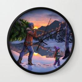 Winter's Magic Wall Clock