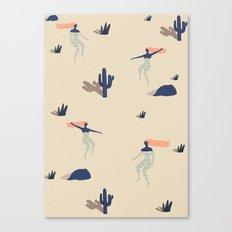 Dezert swim Canvas Print