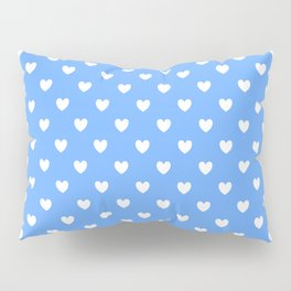 Hearts on Sky Blue Pillow Sham